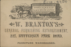 Advert for W Branton's furniture store